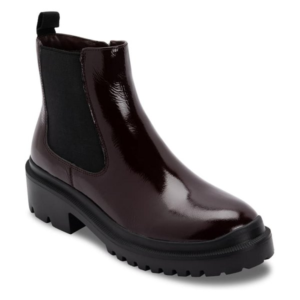 Blondo cayla waterproof chelsea boot in burgundy patent leather