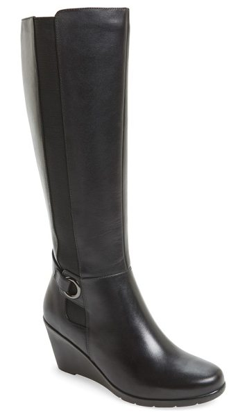 Blondo lexie waterproof knee high boot in black leather - Comfort meets  sophistication in this sleek 2b066ee63bbb