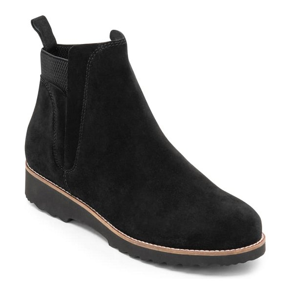 Blondo perla waterproof bootie in black suede