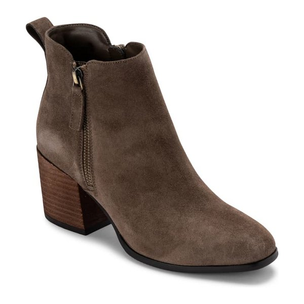 Blondo siena waterproof bootie in dark taupe suede