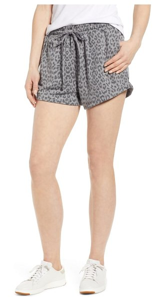 Bobeau leopard drawstring waist shorts in leopard camo - Perfect your off-duty look in these stretch-knit shorts...