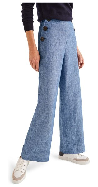 BODEN falmouth linen sailor pants in chambray