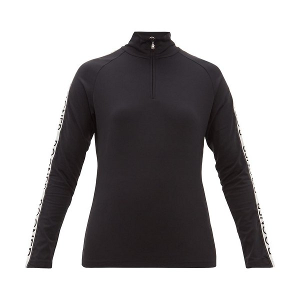 Bogner hayden logo stripe technical thermal top in black