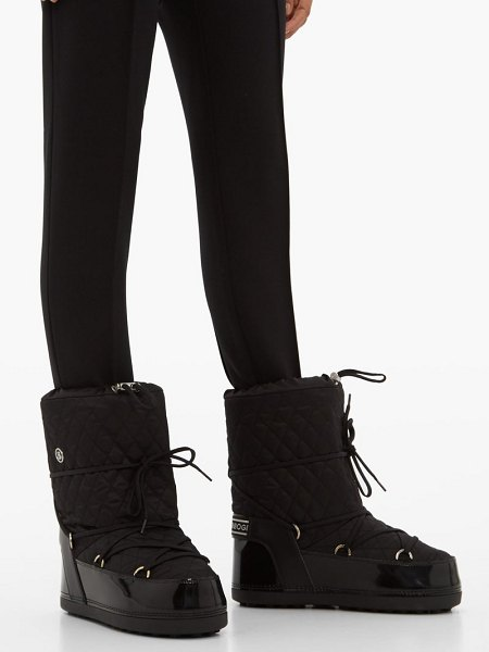 Bogner tignes quilted lace up snow boots in black