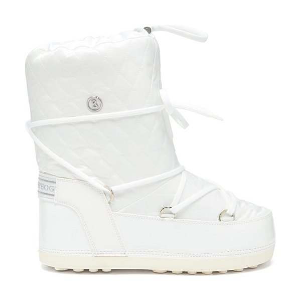 Bogner tignes quilted lace up snow boots in white
