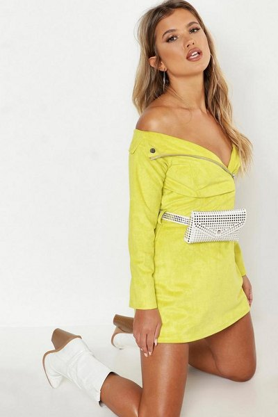 Boohoo All Over Stud Belt Bag in white - Add attitude with accessories for those fashion-forward...