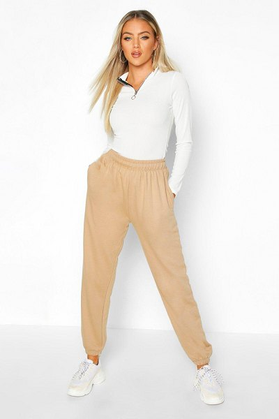 Boohoo Basic Loopback Joggers in biscuit