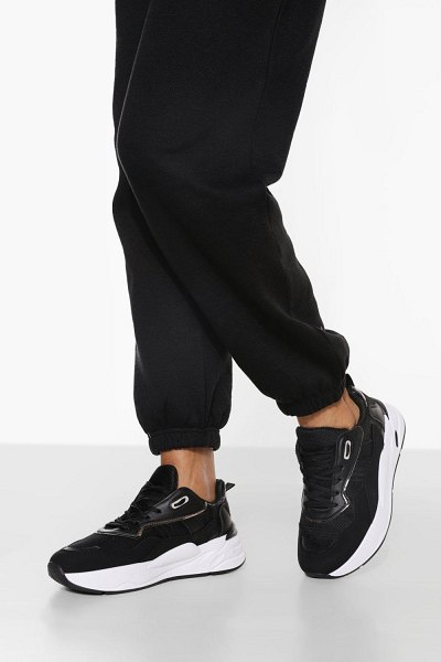 Boohoo Chunky Contrast Trainer in black