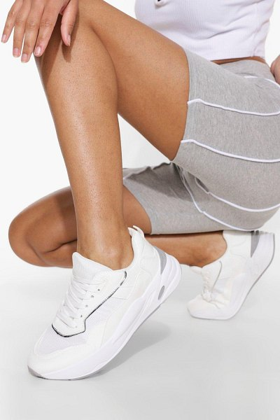 Boohoo Chunky Contrast Trainer in white