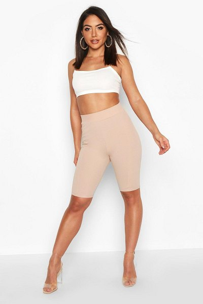 Boohoo Contoured Cycling shorts in stone