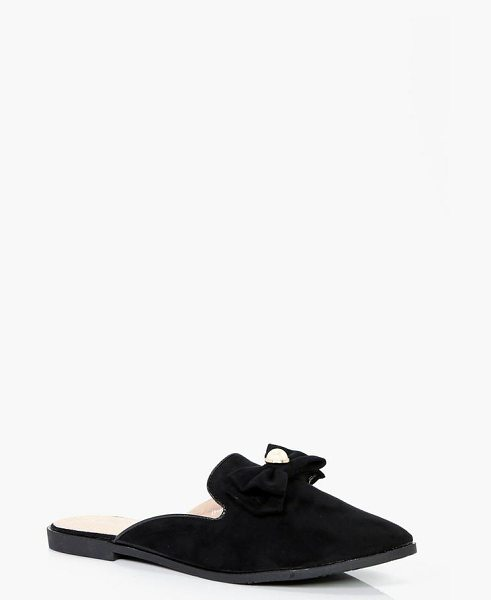 2aee36b5aec Boohoo Ellie Pearl Trim Loafer Mules in black - We ll make sure your shoes