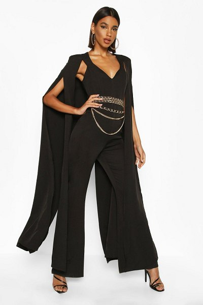 Boohoo Extreme Wide Leg Jumpsuit in black