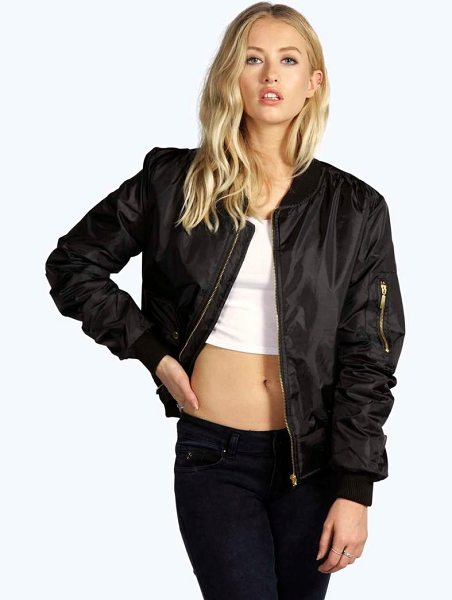 Boohoo MA1 Bomber in black - Wrap up in the latest coats and jackets and get...