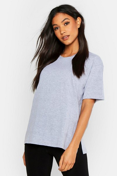 Boohoo Mix and Match Soft Jersey Lounge Tee in grey marl