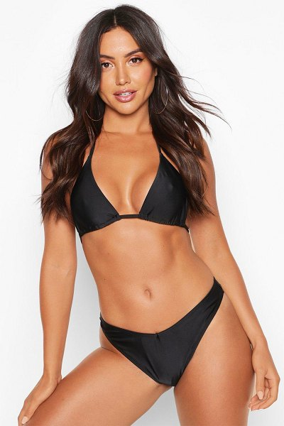 Boohoo Mix & Match Brazilian V Front Bikini Brief in black