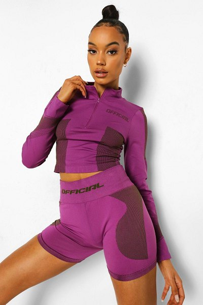 Boohoo Ofcl Seamfree Contour Biker Shorts in purple