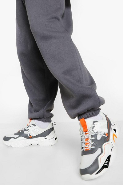 Boohoo Official Cleated Sole Chunky Sneakers in white