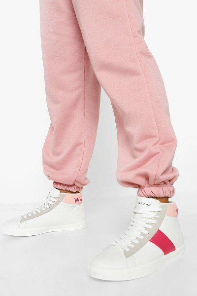 Boohoo Official High Top Sneakers in pink