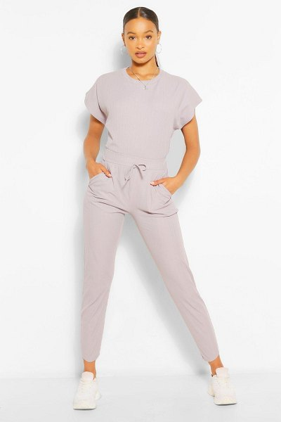 Boohoo Oversized Bandage T-Shirt And Pants Two-Piece in grey