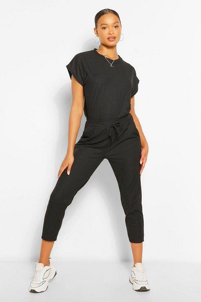 Boohoo Oversized Bandage T-Shirt And Pants Two-Piece in black