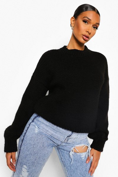 Boohoo Oversized Knitted Sweater in black