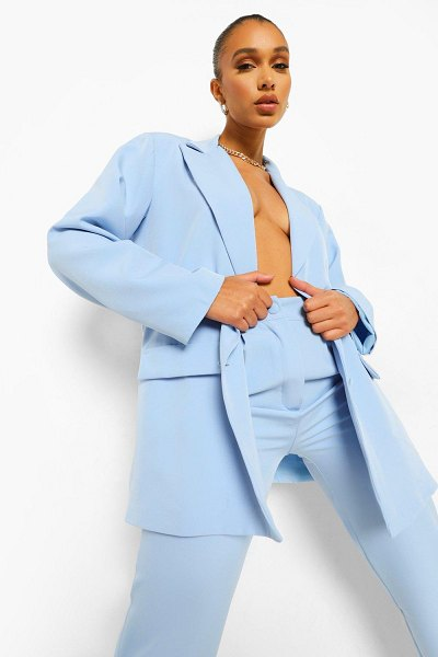 Boohoo Oversized Relaxed Fitted Blazer in dusty blue