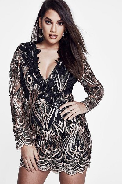 79dc7369d4 Boohoo Premium Plus Lola Sequin Long Sleeve Dress - Dresses are the  most-wanted wardrobe
