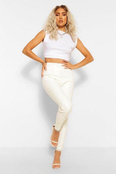 Boohoo Pu Legging in white
