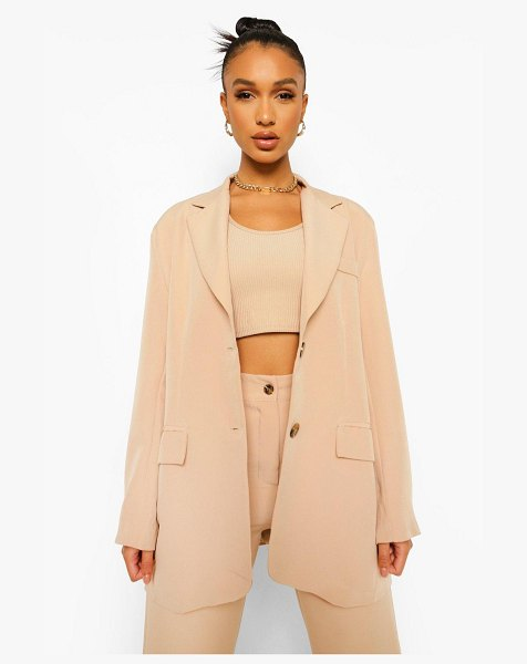 Boohoo Relaxed Fit Blazer in stone