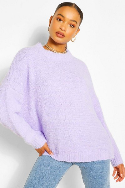 Boohoo Soft Knit Slouchy Oversized Sweater in lilac