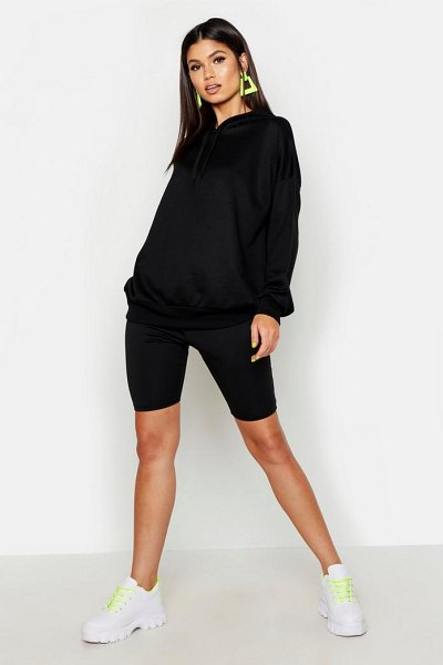 Boohoo Soft Oversized Hoodie in black