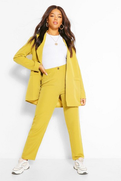 Boohoo Tailored Pleat Detail Relaxed Trouser in chartreuse