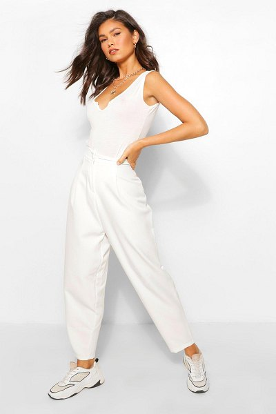 Boohoo Tailored Trouser in ivory