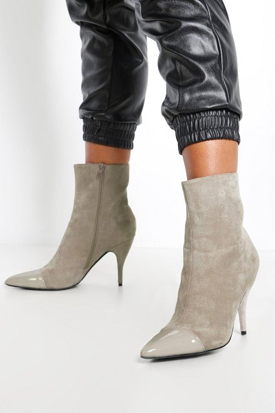 Boohoo Toe Cap Pointed Shoe Boots in grey