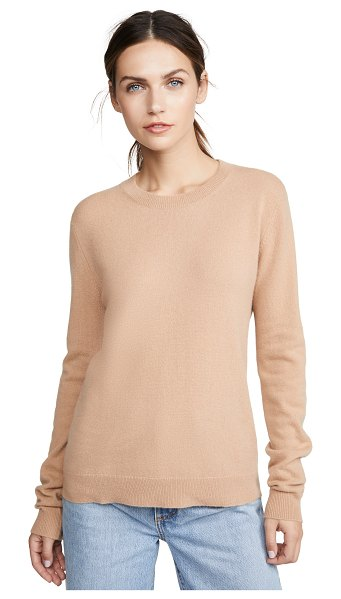 Bop Basics cashmere boxy crew sweater in almond