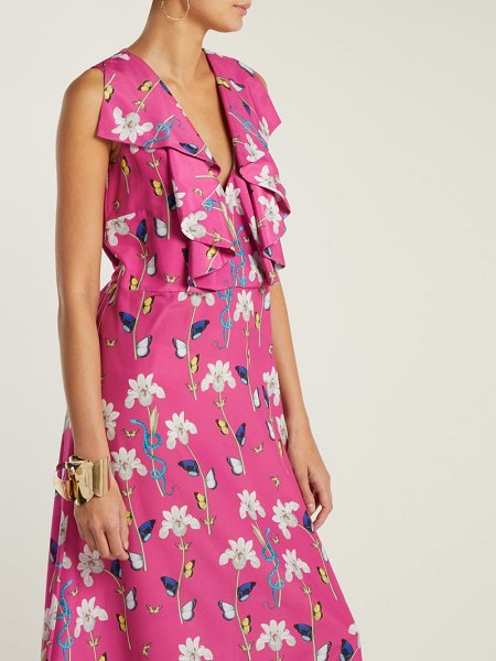 BORGO DE NOR Carlotta crepe maxi dress in pink print - Fresh for the new season Borgo de Nor's print pink...