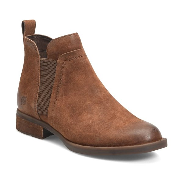 Born b?rn brenta chelsea boot in rust distressed suede
