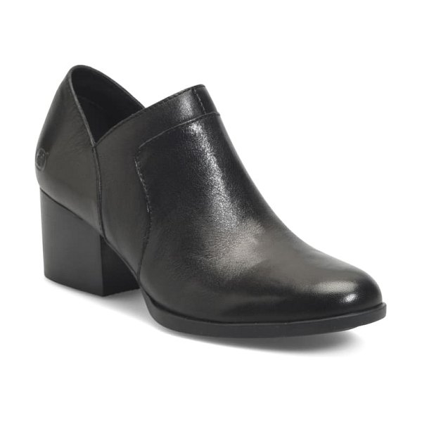 Born b?rn caley bootie in black leather