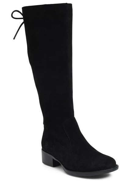 Born b?rn cotto tall boot in black suede