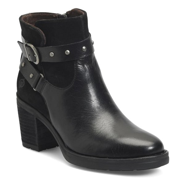 Born b?rn derica bootie in black suede/ leather combo