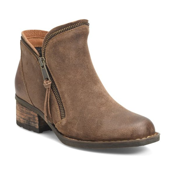 Born b?rn montoro bootie in natural distressed suede