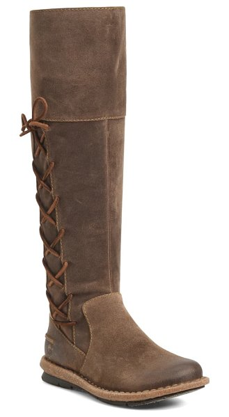 Born b?rn tarla knee high boot in taupe distressed suede
