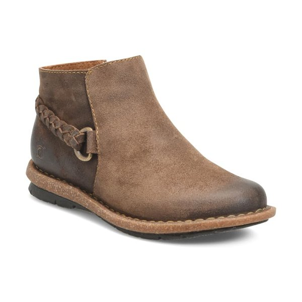 Born b?rn toya bootie in natural distressed suede
