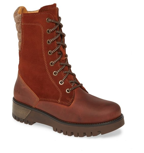 Bos. & Co. galaxy prima waterproof insulated boot in rust leather/ suede