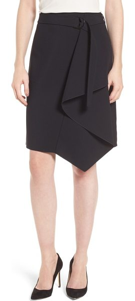 BOSS mavea skirt - A gracefully draped front adds chic, asymmetrical flair to...