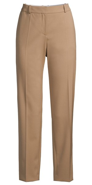 BOSS tocane stretch wool pants in camel