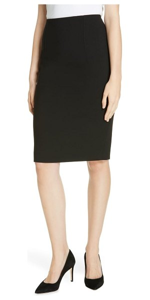 BOSS virera ponte pencil skirt in black - A wardrobe workhorse, this black pencil skirt is...