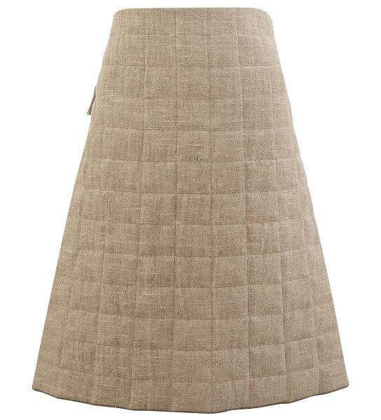 Bottega Veneta A-line skirt in canvas