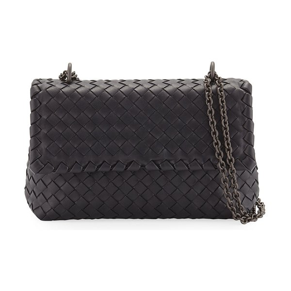 Bottega Veneta Baby Olimpia Intrecciato Shoulder Bag in nero