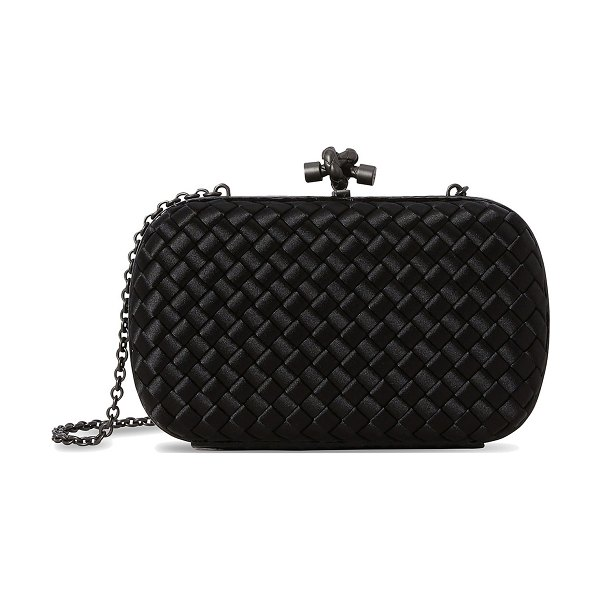 Bottega Veneta Clutch with a chain in black